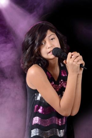 child singing: Child singing on stage