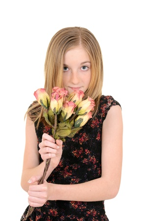 young child with roses Stock Photo - 19091608