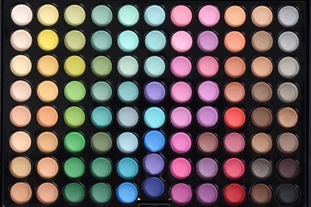 top view eyeshadow palette