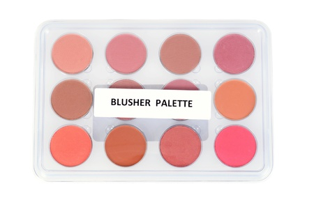 blusher: blusher palette Stock Photo