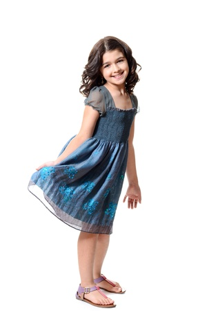 cute little girl in blue dress Reklamní fotografie - 20469953