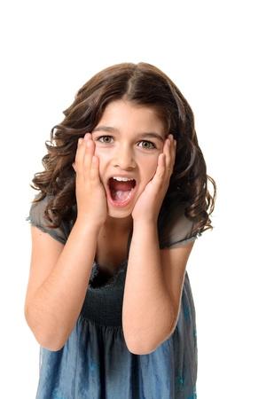 surprised female child