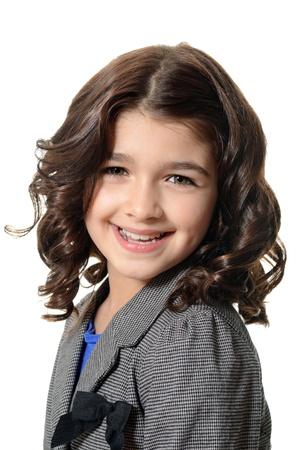 smirk: happy little girl portrait