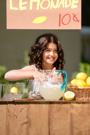 little girl lemonade stand photo