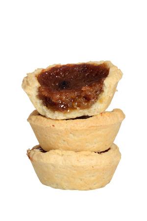 mantequilla: aislados tartas de mantequilla pila Foto de archivo