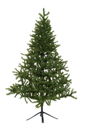 fake christmas tree: isolated fake christmas tree