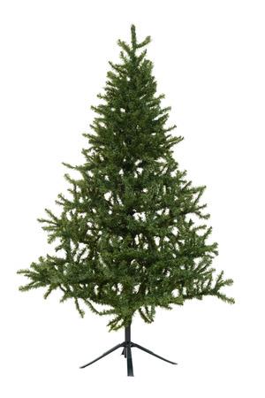 fake christmas tree: isolated fake christmas tree
