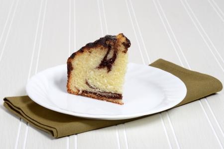 chocolate slice: closeup slice chocolate coffee cake