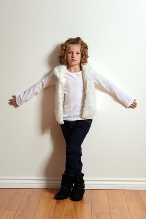 girl boots: little girl fashion model