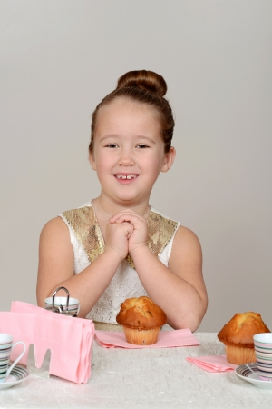 little girl tea party photo