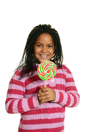 little black girl with big lollipop