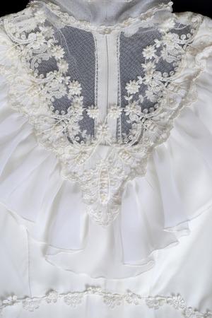closeup vintage dress 免版税图像