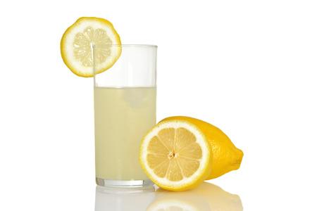 fresh glass of lemonade photo