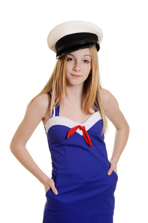 teen girl wearing sailor suit fashion photo