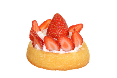 isolated strawberry shortcake