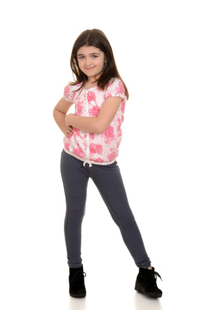 cute little girl posing photo