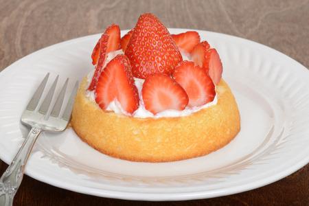 shortcake: macro strawberry shortcake