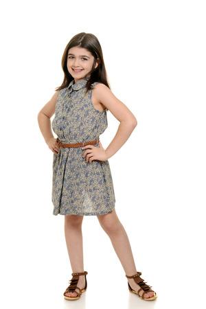 美しい夏のドレスの少女 写真素材
