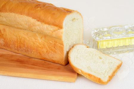 pain blanc: pain blanc en tranches frais