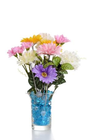 faux: disposizione dei fiori in vaso finto