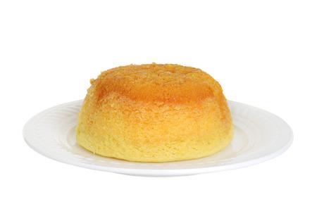 treacle: isolated treacle pudding Stock Photo