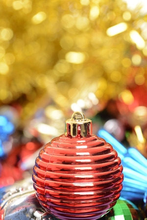 macro red christmas ornament photo