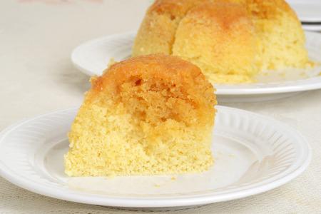 treacle: slice of treacle pudding Stock Photo