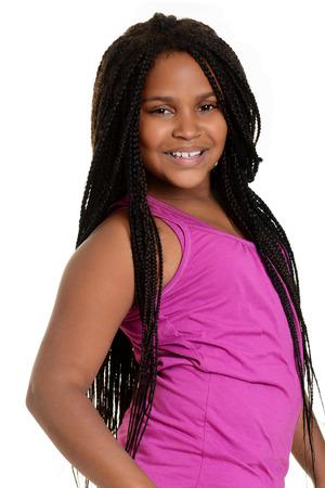 fille noire: fille noire avec top rose