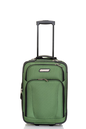 luggage pieces: green suitcase Stock Photo