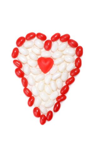 心臓の形で分類されたバレンタインお菓子 写真素材