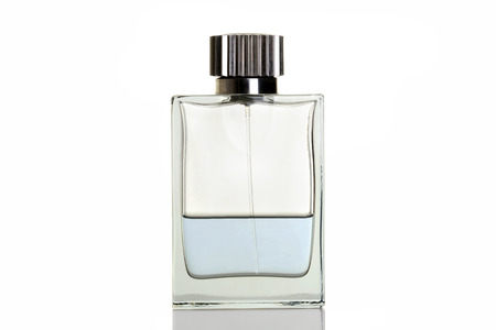 aftershave: blue perfume in bottle