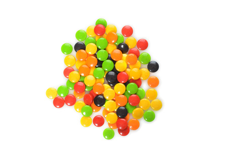 hard candy: pile assorted hard candy
