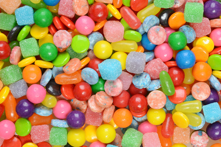 closeup of mixed candies Stock Photo