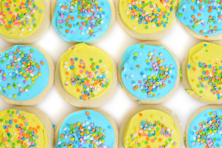 easter cookie: blue and yellow easter cookie background