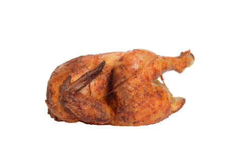 side view barbecue roast chicken photo