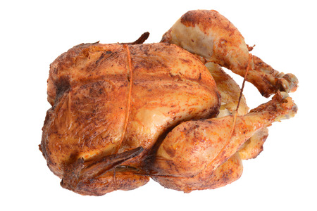 top view barbecue roast chicken Stock Photo