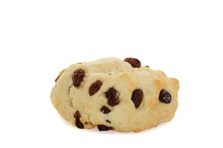 scone: closeup english scone with raisins