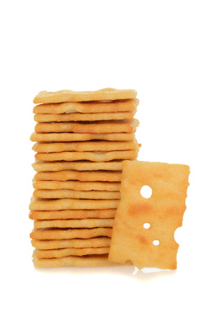 swiss cheese: stack swiss cheese cracker