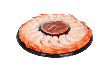 seafood platter: isolated shrimp ring