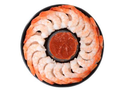 camaron: anillo de camarones vista superior