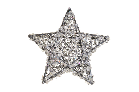 crystal christmas star Stock Photo