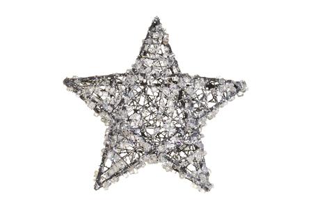 kristal kerst ster Stockfoto