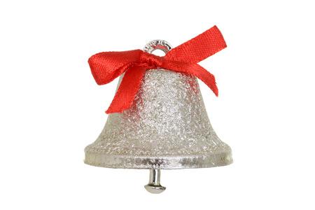 Silver christmas bell Banco de Imagens