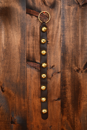 antique sleigh: sleigh bells Stock Photo