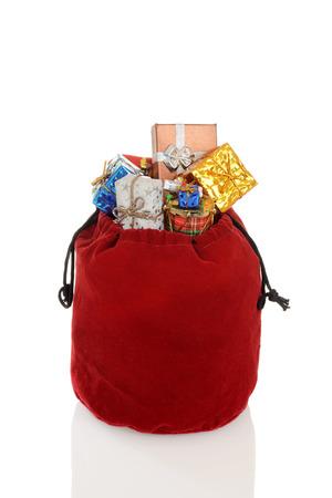 sackful: santa claus bag Stock Photo