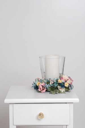 candle holder: spring candle holder on table