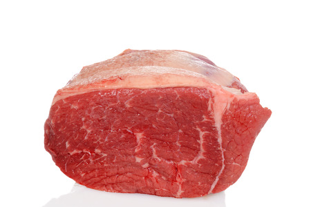 raw outside round beef roast