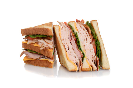 sandwich: sliced chicken club sandwich