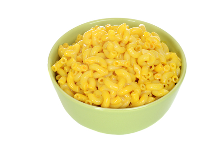 macarrones: tazón de fuente aislado macarrones con queso Foto de archivo