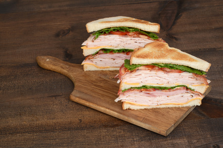 toasted chicken club sandwich Standard-Bild